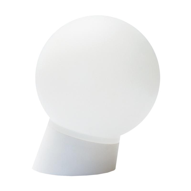 Светильник НББ E27, 60Вт, 230В, IP20, наклонное основание, шар, белый пластик