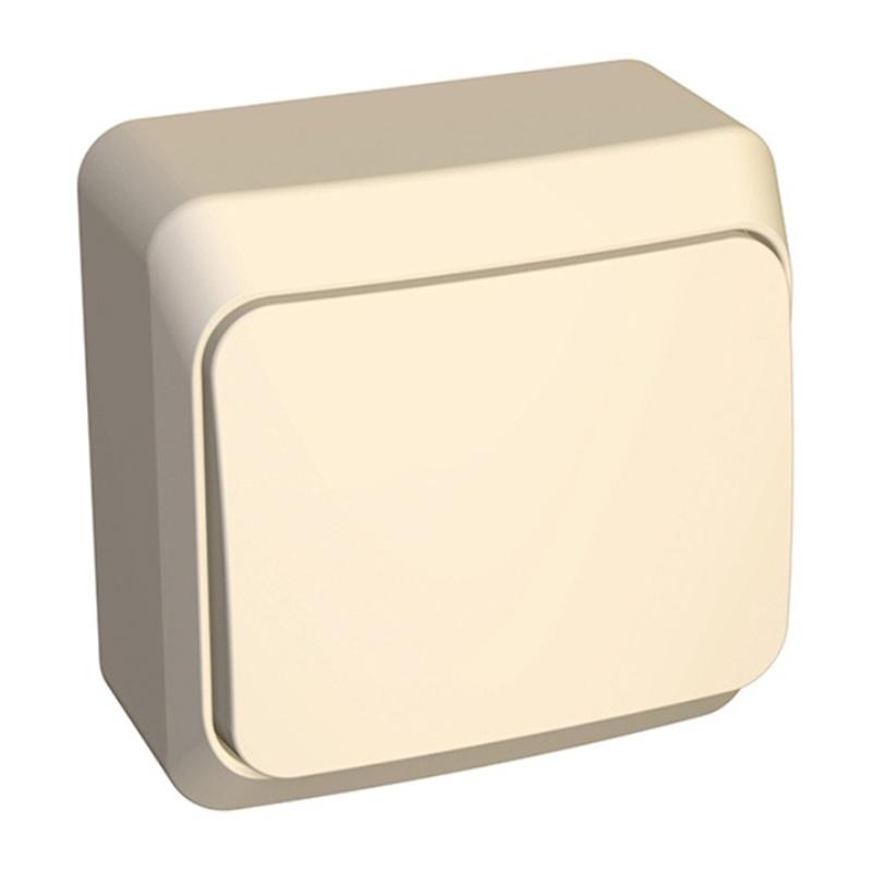 МАКЕЛ Выключатель о/у, 1 клавиша, б/индикации 10А, 230В, IP20, кремовый. 45201