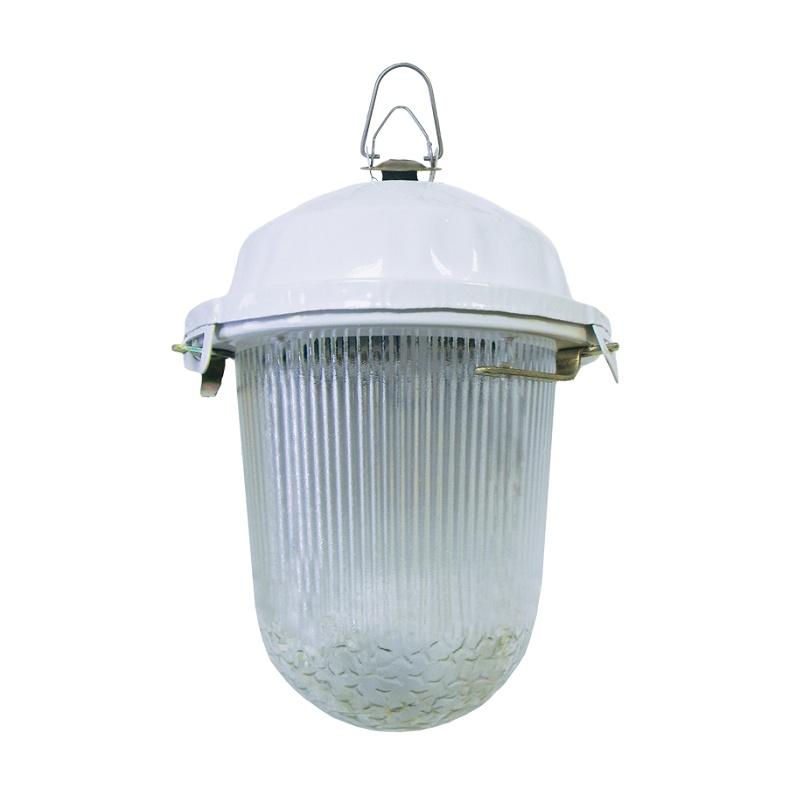 Светильник подвесной НСП 100Вт, 230В, Е27, б/решетки, стекло, крюк, IP52